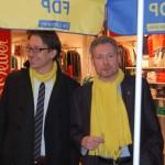 Weissleder begrüßt Birkner und Helfer am Wahlstand