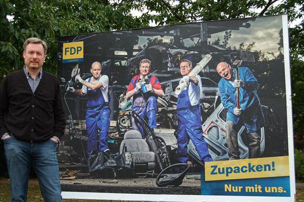 FDP-Direktkandidat im Wahlkreis 47 (Hannover-Land II) Dirk Weissleder (44)