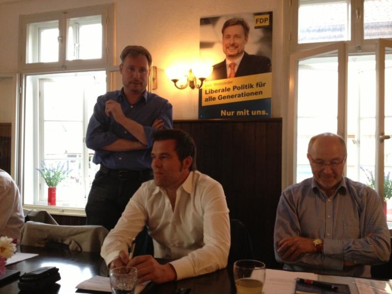 Dirk Weissleder spricht über die Bundespolitik und über die Schwerpunkte seines Bundestagswahlkampfes