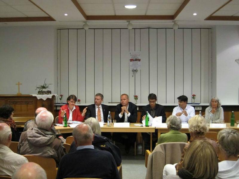 Podiumsdiskussion zur Bundestagswahl in Rethen