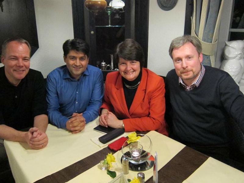 v.l.n.r: Matthias Miersch, Abdulselam Dogan, Maria Flachsbarth und Dirk Weissleder