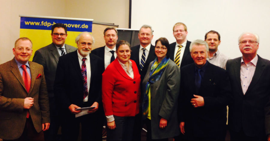 Mitglieder des Bezirksvorstandes Hannover-Hildesheim (Foto FDP)