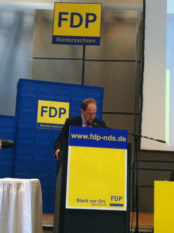 Alexander Graf Lambsdorff spricht über Europa und den Wahlen zum Europäischen Parlament am 25. Mai 2014