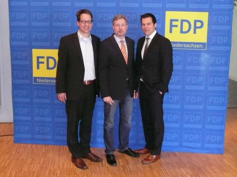 Gratulierten zur Wahl in den Landesvorstand: Dr. Stefan Birkner und Dr. Gero Hocker