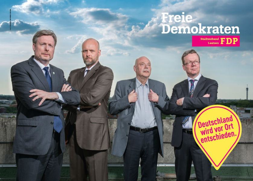 Das Wahlplakat ist fertig - endlich (Aufnahme: Michael Wallmüller, Layout Satzjoint, Berlin)