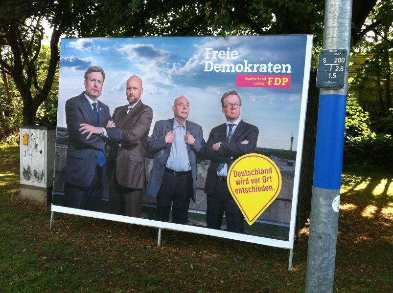 Eine der Großflächen im Stadtgebiet von Laatzen zur Kommunalwahl 2016.